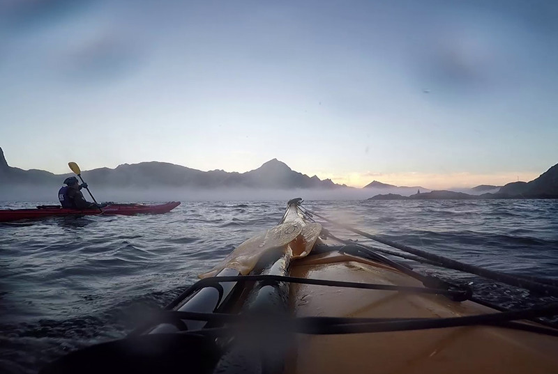 kayak-lofoten-norvege-cercle-polaire