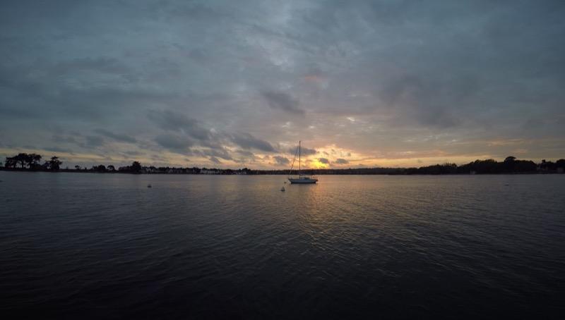 Coucher de soleil à Port La Foret